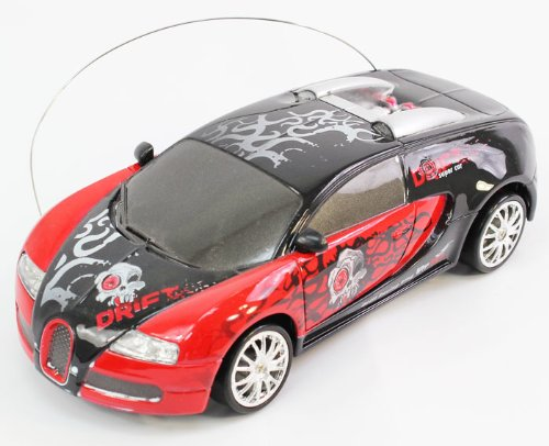 1:24 Scale Full Function Graffiti EXTREME DRIFT RC Bugatti Drifting Car Remote Control (Colors May Vary)