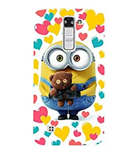 Vizagbeats Minion Holding Teddy Back Case Cover for LG K7