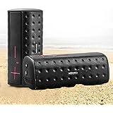 MOCREO® IPx5 Water-resistant Portable Bluetooth Speaker Rugged Splash Proof + Hands-free Speakerphone w/ Built-in Mic/ TF Card Slot/ 2600mAh Capacity Battery - MOSOUND Bar (Black) Christmas Gift