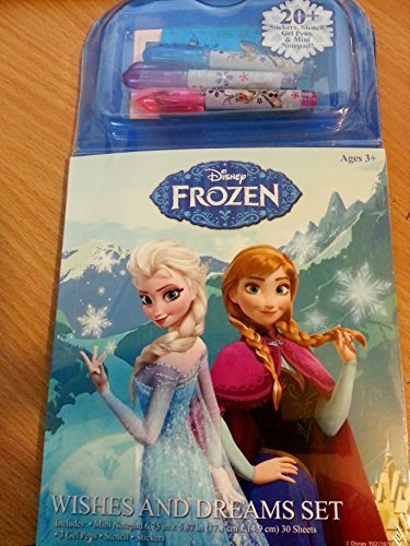 Frozen Wishes and Dreams Set Sticker, Markers, Notepad, Stencils