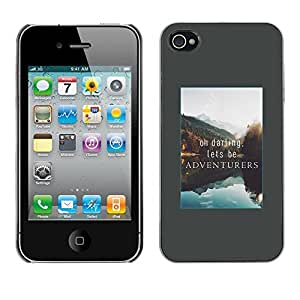 Omega Covers - Snap on Hard Back Case Cover Shell FOR Apple iPhone 4 / 4S - Adventure Vacation Alaska Lake Nature