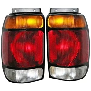 95 96 97 ford explorer taillight tail light lamp pair. Black Bedroom Furniture Sets. Home Design Ideas
