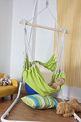 Hängesessel Hängeschaukel Sitzhängematte Fashion in grün von Leguana Handels GmbH - Gartenmöbel von Du und Dein Garten