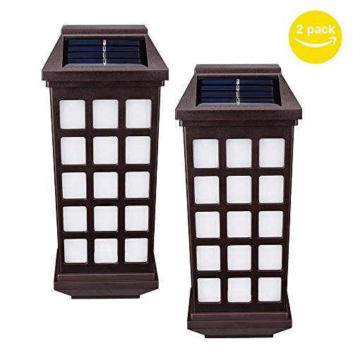 solar lights outdoor huihong outdoor fence lights. Black Bedroom Furniture Sets. Home Design Ideas