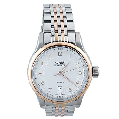 Oris Men's 733 7594 4361MB Classic Date White Dial Watch