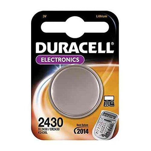 DURACELL 2 X DURACELL Pile bouton lithium 'Electronics' CR 2430 3 volt Blister de 1