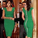 2016 Stylish Sexy Green Pink Orange Women's party dress clubwear evening dress Mini skirt Fashion Uniform Costumes US 2 4 6 8 10 12 14 16 (Green, XL(US 14-16)) thumbnail