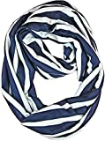 Brooke's Treehouse Infinity Scarf Nursing Cover (Navy Stripe)