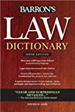 Barron's Law Dictionary (text only) 6th (Sixth) edition by S. H. Gifis