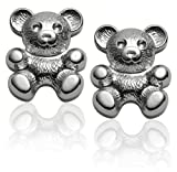 Sterling Silver Children's Teddy Bear Earrings
