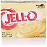 JELL-O Instant Pudding and Pie Filling, Vanilla, 5.1 Ounce (Pack of 4)