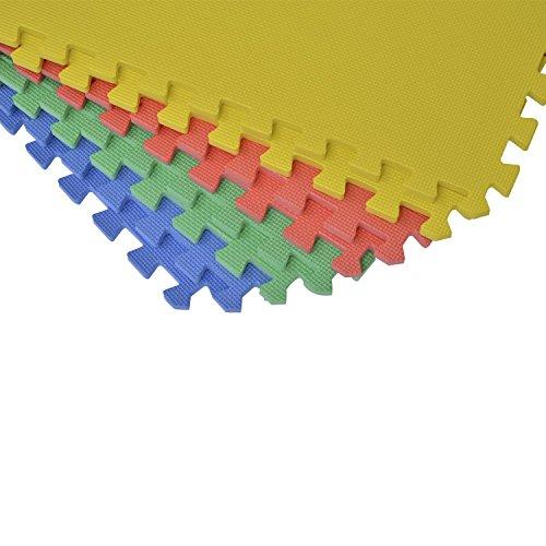 homcom 02-0120 - Puzzle, Boden Matte Kinderteppich, 8 teilig