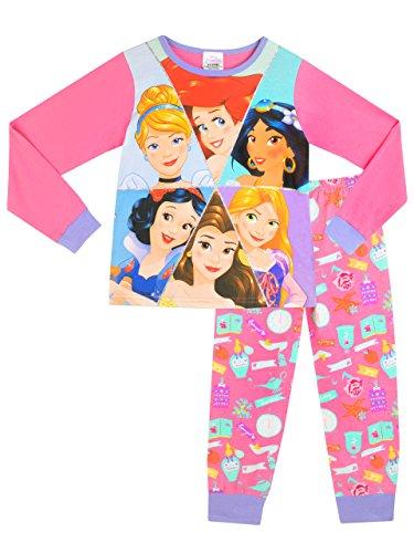 Principesse Disney - Pigiama a maniche lunghe per ragazze - Disney Princess - 7 - 8 Anni