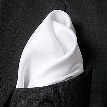 "Fine White Silk Pocket Square - Full-Sized 16""x16"""