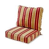 Greendale Home Fashions OC7820-RomaStripe Deep Seat Cushion Set, Roma Stripe