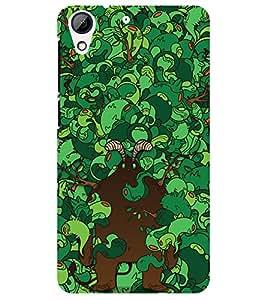 Chiraiyaa Designer Printed Premium Back Cover Case for HTC Desire 728 (green pattern) (Multicolor)