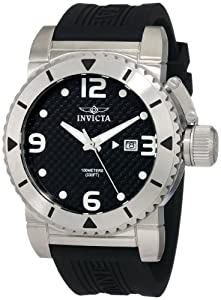 Invicta Men's 1431 Sea Hunter Black Dial Rubber Watch