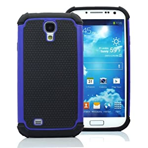 CaseMore Blue Plastic + Silicon Material Protective Armor Case for Samsung Galaxy S4 S IV i9500