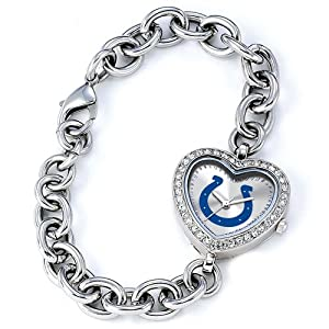 Ladies NFL Indianapolis Colts Heart Watch by 14k co.