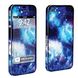 Apple iPhone 4 or 4s Full Body Vinyl Decal Sticker Skin Blue Space By Skinguardz