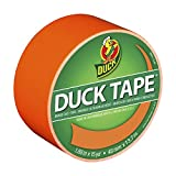 Duck Brand 1265019 Neon Colored Duct Tape, Orange, 1.88-Inch by 15 Yards, Single Roll