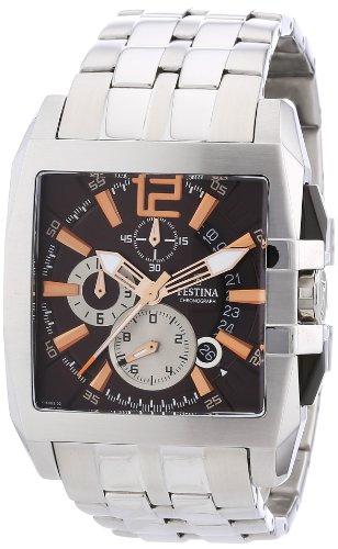 Festina F16393/5 - Reloj cronógrafo de cuarzo para hombre con correa de acero inoxidable, color plateado