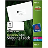 Avery White EcoFriendly Shipping Labels, 2 x 4 Inches, Box of 1000 (48163)