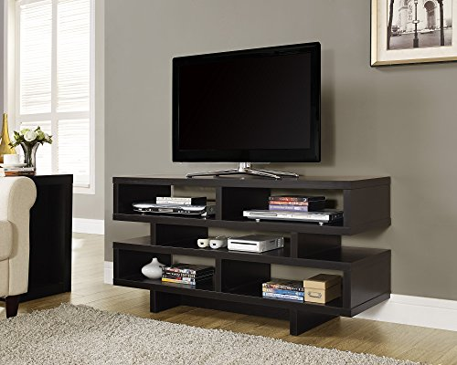 Monarch Specialties Cappuccino Hollow-Core TV Console, 48-Inch (48 Inc Tv compare prices)