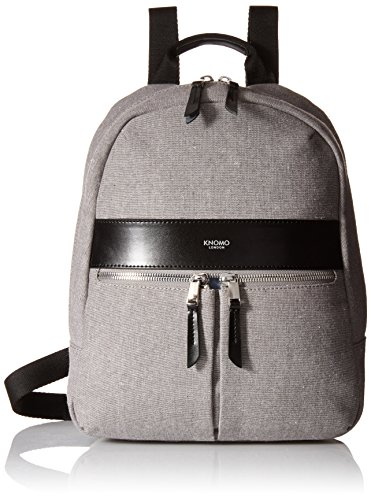 knomo-luggage-mayfair-nylon-beauchamp-mini-10-inch-multipurpose-backpack-grey