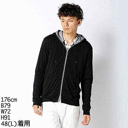 MKオム(MK homme) 【アウトレット】パーカー(ダブルフードパーカー)【ネイビー/48(L)】