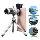 12X Kamera-Objektiv-Set mit Mini Stativ