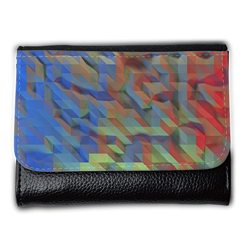 Cartera unisex // M00155617 Progetto Blu Rosso geometrica // Medium Size Wallet