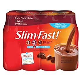 8-pack Slim-Fast! 3-2-1 Ready To Drink (10-oz) in Rich Chocolate Royale $6.98