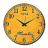 MeSleep Mumbai Vintage Wall Clock With Glass Top