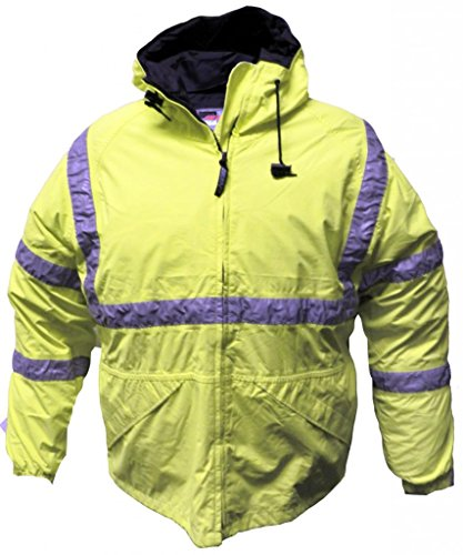 Solar 1 Clothing Mens Reflective Rain Jacket with Hood RJ02