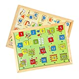 Skillofun Magnetic Twin Play Tray Combo Of Alphabet Attic And Number Scene 1-20, Multi Color