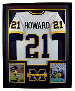 Desmond Howard Framed Jersey Signed JSA COA Autographed Michigan Wolverines