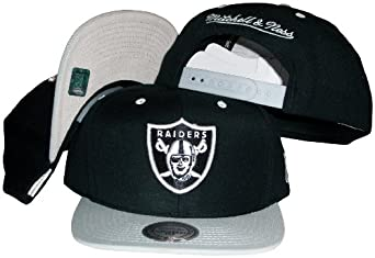 Mitchell & Ness Mens Oakland Raiders Throwback Standard Logo Snapback by Mitchell & Ness
