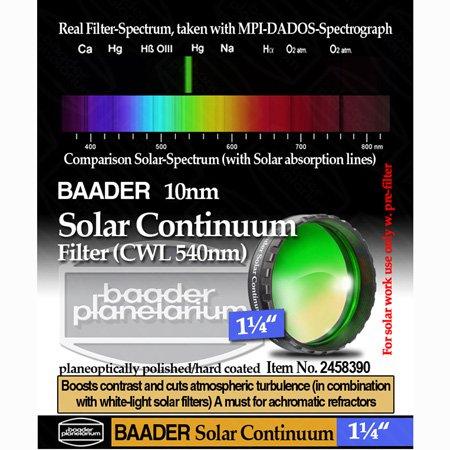 "Baader Planetarium Solar Continuum Filter, 1.25"" Fsol-1"