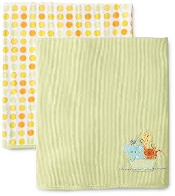 SpaSilk Unisex-baby Newborn 2 Pack Thermal Receiving Ark Blanket at Sears.com