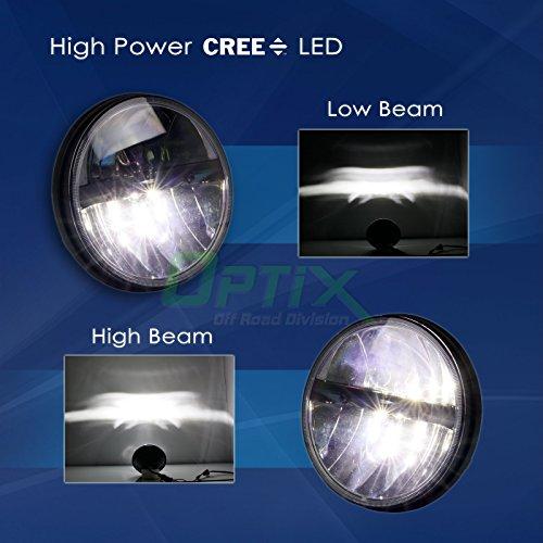 "Optix Jeep Wrangler 7"" Round 80W Total CREE LED Jeep Wrangler Headlights"