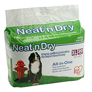 IRIS Neat n Dry Puppy Training Pads, X-Large, 20-Count