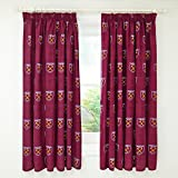 West Ham United FC Football Team Repeat Crest Pair of Curtains - 54 inch drop