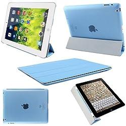 ProElite(TM) Ultra Thin Smart Flip Foldable Flip Case cover for Apple iPad Air iPad 5 Tablet with stylus (Sleep/wakeup) (Sky Blue)