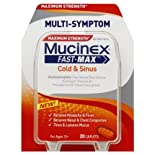 Mucinex Cold & Sinus, Multi-Symptom, Maximum Strength, Caplets 20 ct