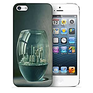 Snoogg City In Fish Tank Printed Protective Phone Back Case Cover For Apple Iphone 5 / 5S