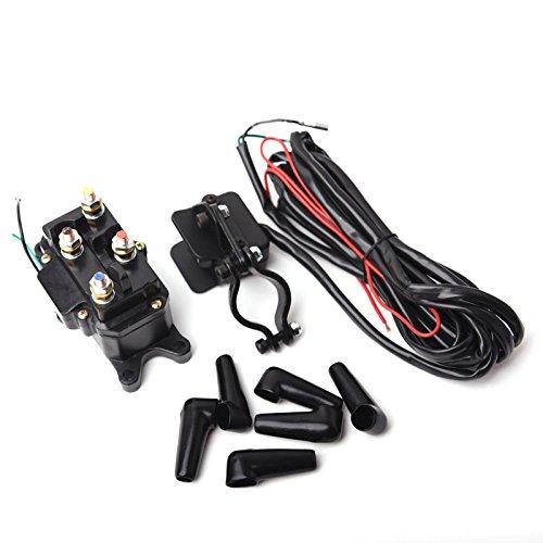 12V-Solenoid-Relay-Contactor-Winch-Rocker-Thumb-Switch-COMBO-for-ATV-UTV