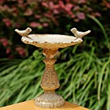 Dollhouse Miniature Fairy Garden Furniture Resin Bird Bath Fountain 1/12 Scale