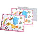 GURUKRIPA DRESSES NEW BORN BABY PLASTIC SHEET CHANGABLE SHEET URIN ABSORABLE MAT TRAWELER WATER PROOF DIPER CHANGING MAT PRINTED MULTIPURPOSE USE COTTON FOAM CUSHIONED SLEEPING & CHANGING MAT REUSABLE MAT PLAY AND CRAWL MAT FIRST GIFT FOR NEW BORN BAB