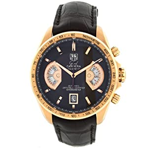 TAG Heuer Carrera Caliber 36 CAV514C 18K Rose Gold Automatic Mens Watch